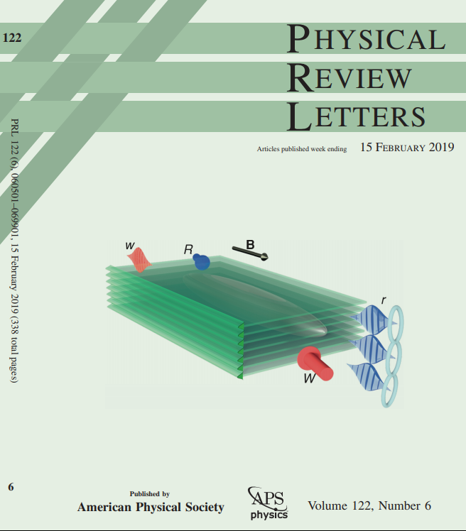 photo of the cover of Physical Review Letters