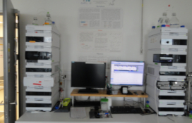 photo of the High-performance liquid chromatographs with: both diode array (DAD) and fluorescence (FLD) detectors