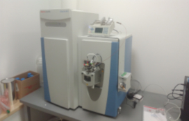 photo of the Nano-flow chromatograph with mass spectrometer