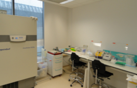 photo of the 3rd class Isotopic Laboratory  for work with 32P and 35S isotopes