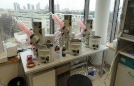 photo of the Rotary evaporators set