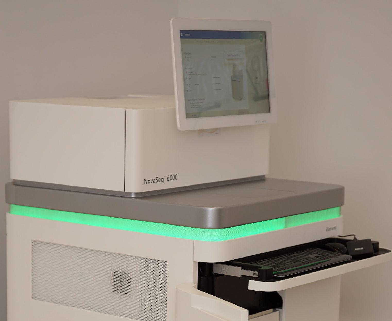 photo of the Illumuina NovaSeq 6000 sequencing system